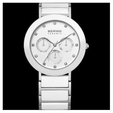 Ceramic Watch, White Part Ceramic Strap and White Dial 11438-754