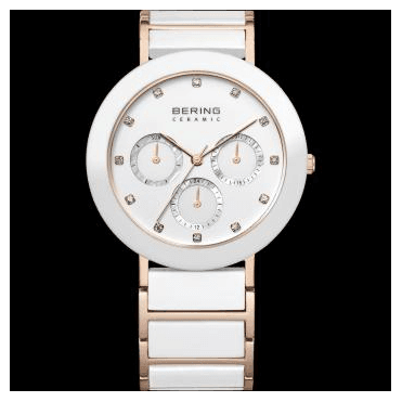 Ceramic Watch, White Part Ceramic Strap and White Dial 11438-766