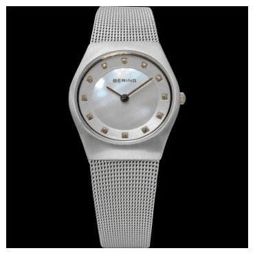 Classic Watch, Silver Mesh Strap and Silver Dial 11927-004