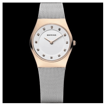 Classic Watch, Silver Mesh Strap and White Dial 11927-064