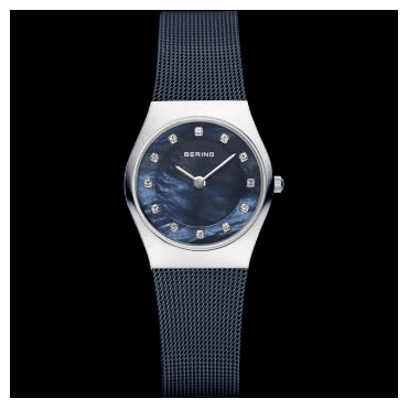 Classic Watch, Blue Mesh Strap and Blue mother of pearl Dial 11927-307