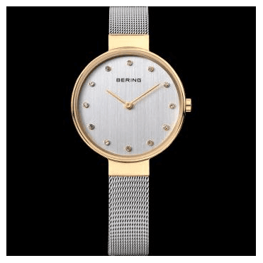 Classic Watch, Silver Mesh Strap and Silver Dial 12034-010