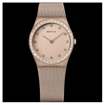 Classic Watch, Rosé Mesh Strap and Rosé Dial 12430-366