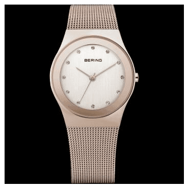 Classic Watch, Rosé Mesh Strap and Rosé Dial 12927-366