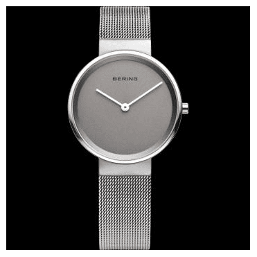 Max René Watch, Silver Mesh Strap and Grey Dial 14531-077