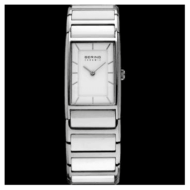 Ceramic Watch, White Part Ceramic Strap and White Dial 30121-754