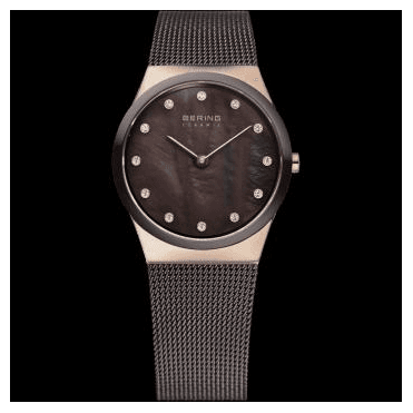 Ceramic Watch, Brown Mesh Strap and Brown Dial 32230-262