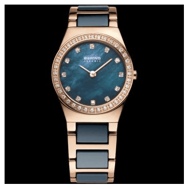 Ceramic Watch, Blue Part Ceramic Strap and Blue Dial 32426-767