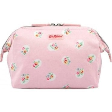Frame Cosmetic Bag Floral Spot Pale Pink 591836