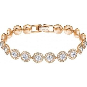 Rose Gold and Crystal Angelic Bracelet