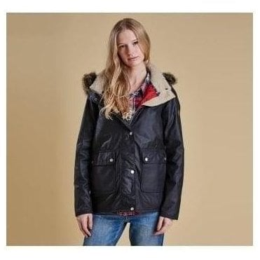 Navy Crevasse Wax Jacket LWX0646NY92