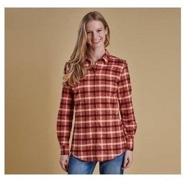 Epler Burnt Orange Check Shirt LSH0966OR74
