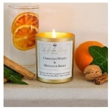 Christmas Pop Candle 'Christmas Wishes and Mistletoe Kisses'