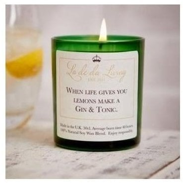 Pop Candle 'When Life Gives You Lemons Make A Gin & Tonic'