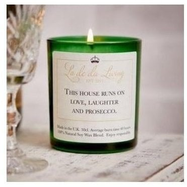 Pop Candle 'This House Runs On Love, Laughter & Prosecco'