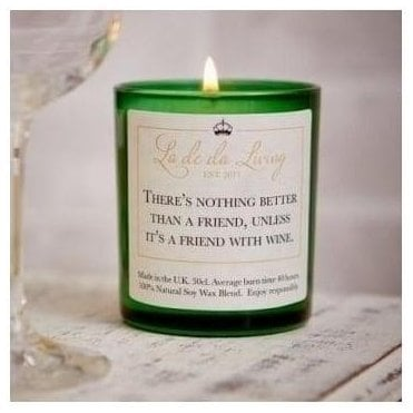 Pop Candle 'There's Nothing Better Than A Friend, Unless It's A Friend With Wine'