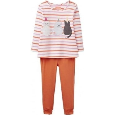 Baby Joy Pinafore, T-Shirt And Leggings Set