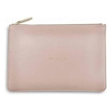 Girly Goodies Perfect Pouch in Pale Pink