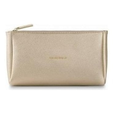 Must Have Make-Up Bag in Metallic Gold
