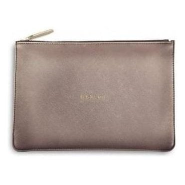 Be Brilliant Perfect Pouch in Rose Gold