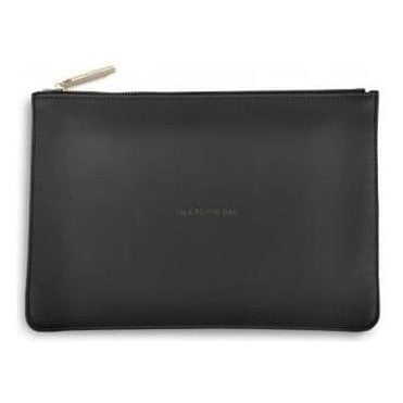 Talk To The Bag Perfect Pouch in Charcoal