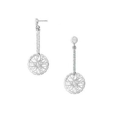 Dream Catcher Sterling Silver Drop Earrings