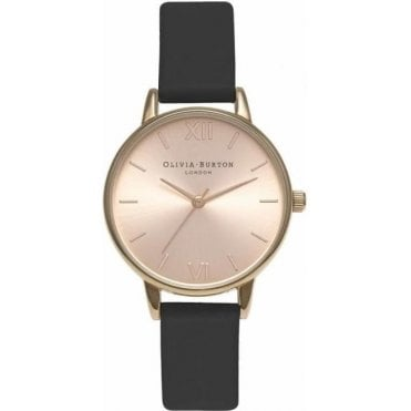Midi Dial Black And Rose Gold