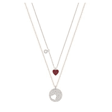 Crystal Wishes Red Heart Pendant Set