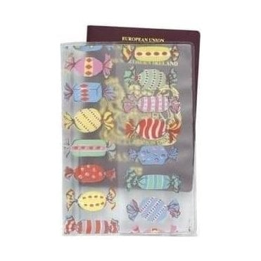 Sweets Clear PVC Passport Holder