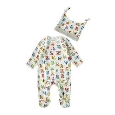 Baby Sleepsuit & Hat Gift Set Animal Alphabet Multi