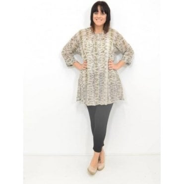 Idona ¾ Sleeved A-Shaped Blouse