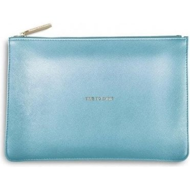 Time To Shine Perfect Pouch in Metalic Blue
