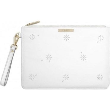 Beautiful Blossom Pouch in White