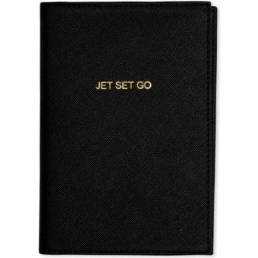 Jet Set Go Passport Holder in Black