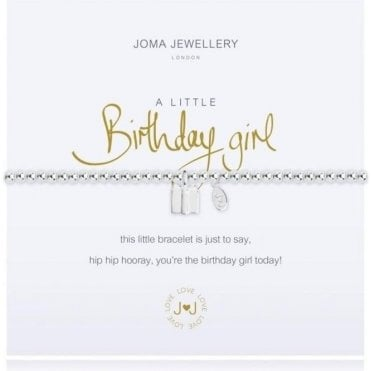 A Little Birthday Girl - Silver Bracelet