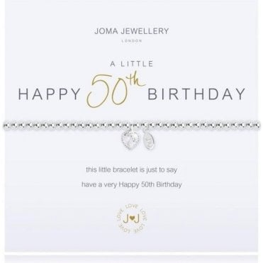 A Little 50Th Birthday - Silver Bracelet