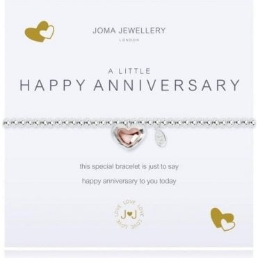 A Little Happy Anniversary - Silver And Rosegold Bracelet