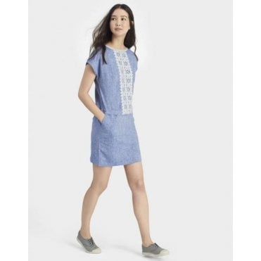 Dana Linen Embroidered Dress