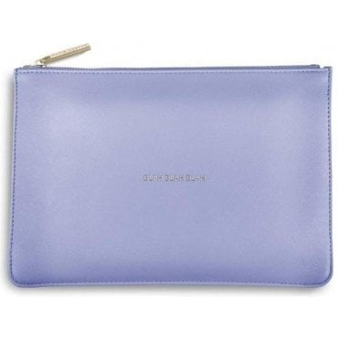 Blah Blah Blah Perfect Pouch in Cornflower Blue