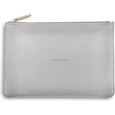 Shine Bright Perfect Pouch in Pale Grey