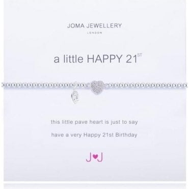 A Little Happy 21St - Silver Bracelet
