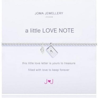 A Little Love Note - Bracelet - Silver And Silver Envelope