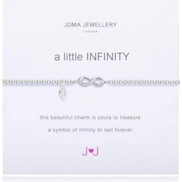 A Little Infinity - Bracelet - Silver With Silver Infinity Looped Symbol