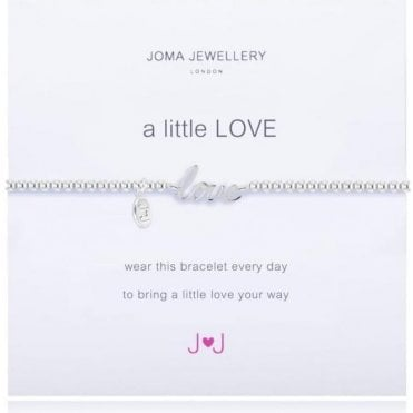 A Little Love - Bracelet - Silver And Silver Word Love