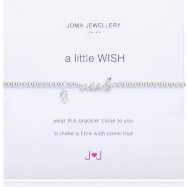 A Little Wish - Bracelet - Silver And Silver Word Wish