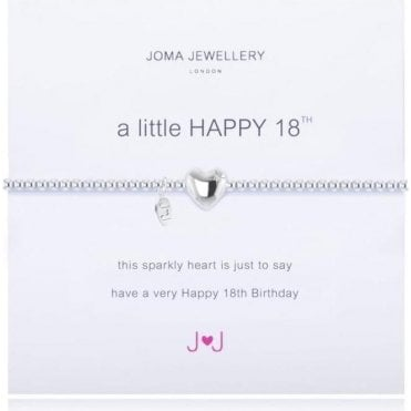 A Little Happy 18Th -Silver Bracelet