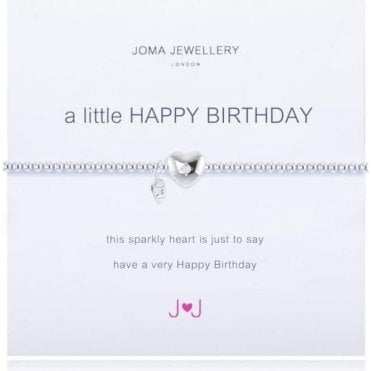 A Little Happy Birthday - Silver Bracelet