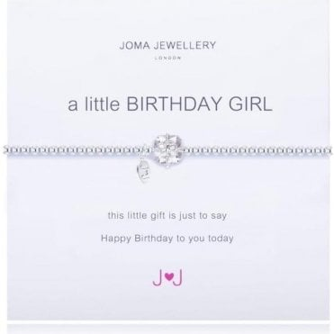 A Little Birthday Girl Bracelet - Silver