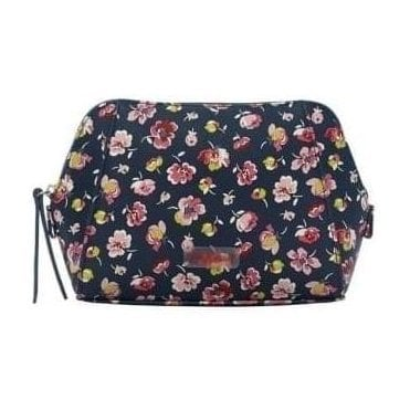 Mallory Ditsy Smart Make up Bag in Navy