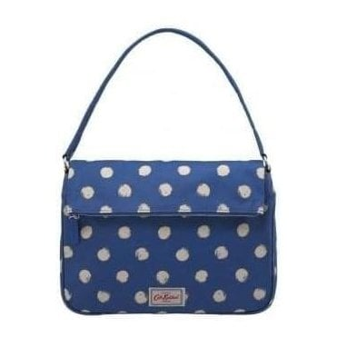 Folded Top Handbag Smudge Spot Marine